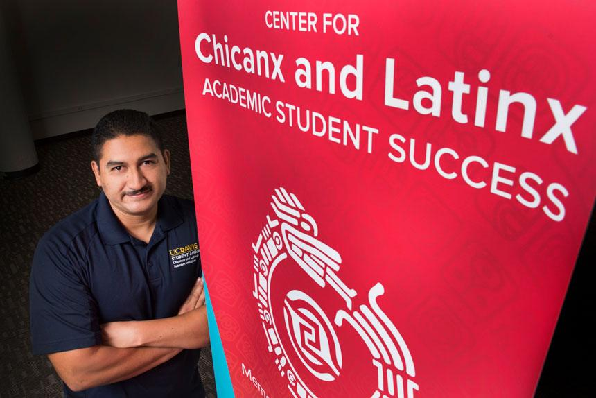 Cirilo Cortez, director of the Chicanx and Latinx Retention Initiative and the student center