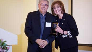 CAMPOS Hall of Fame recipient Raymond L. Rodriguez and CAMPOS Founding Director Mary Lou de Leon Siantz